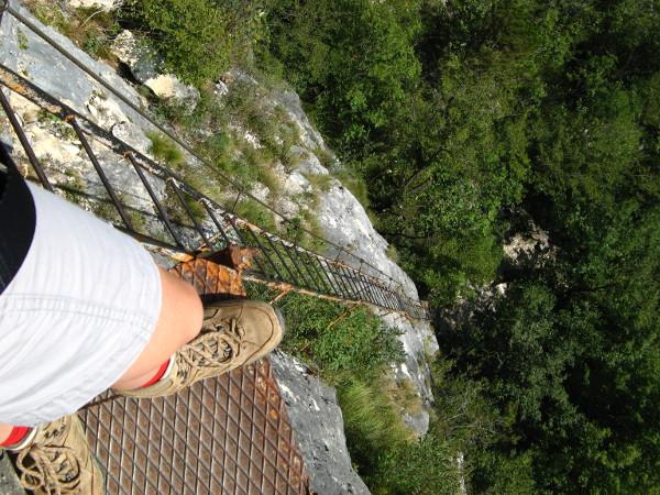 Klettersteig Gardasee : Gardasee: ferrata dellamicizia rocchetta giochello 1519m und